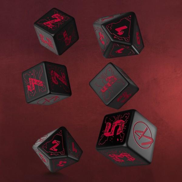Cyberpunk Red Essential RPG Würfel Set 6tlg schwarz