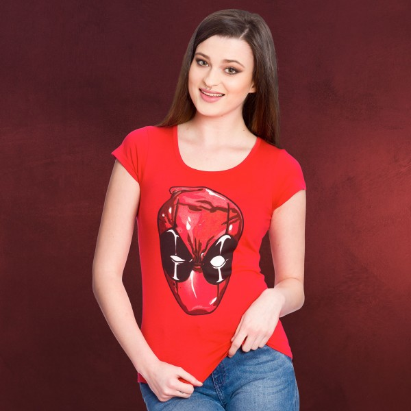Deadpool - Head Girlie Shirt rot