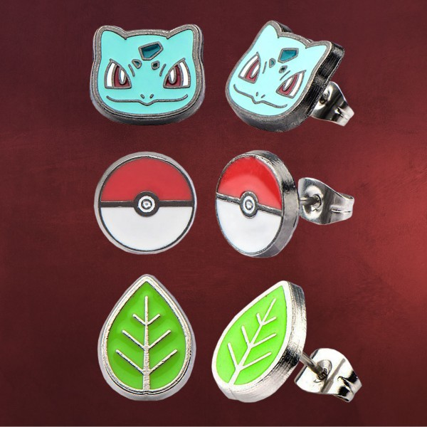 Pokemon - Bisasam Ohrstecker Set