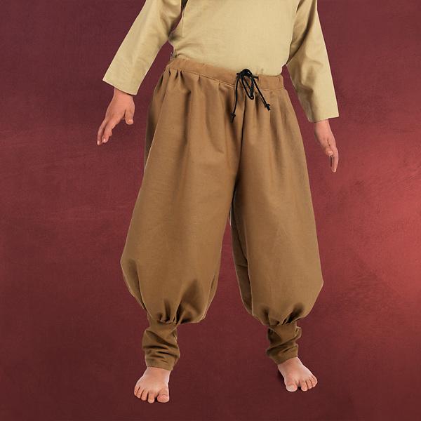 Mittelalter Hose für Kinder hellbraun