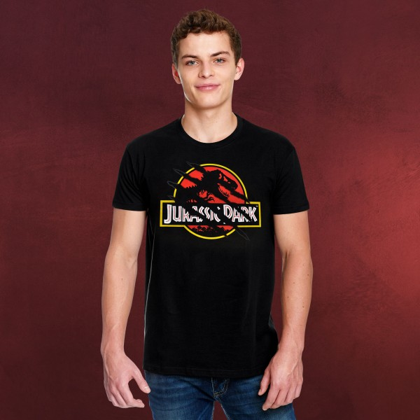 Jurassic Park - Ripped Movie Logo T-Shirt schwarz