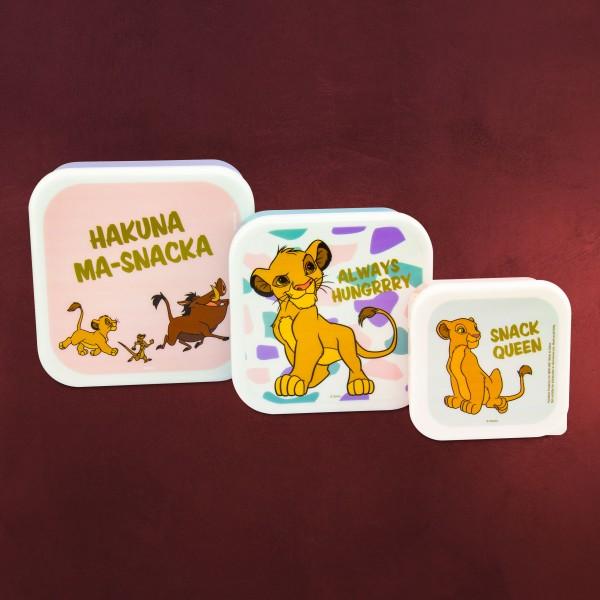 König der Löwen - No Worries Lunchbox 3er Set