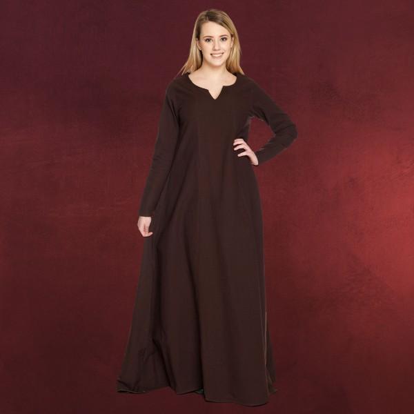 Mittelalter Unterkleid Lina braun