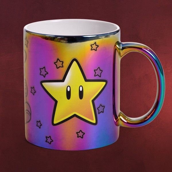 Super Mario - Star Power Metallic Tasse