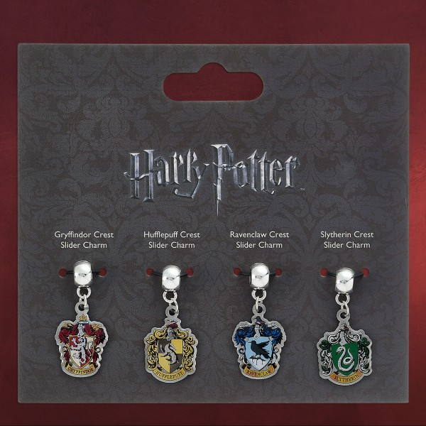 Harry Potter - Wappen Slider Charm Anhänger-Set
