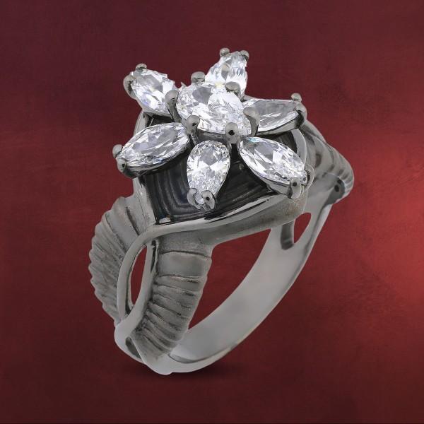 Arwens Abendstern Ring weiß Dark Years Collection