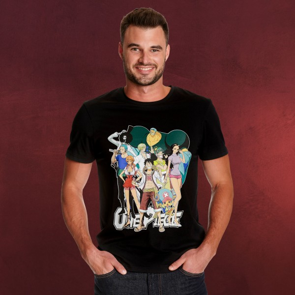 One Piece - Ruffy mit Strohhutbande T-Shirt schwarz