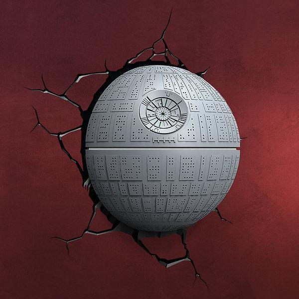 Star Wars - Todesstern 3D LED Wandlicht