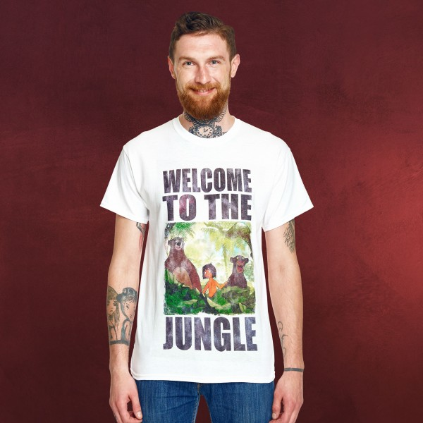 Dschungelbuch - Welcome to the Jungle T-Shirt weiß