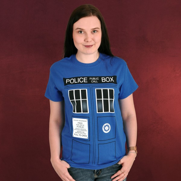 Doctor Who - Tardis T-Shirt blau