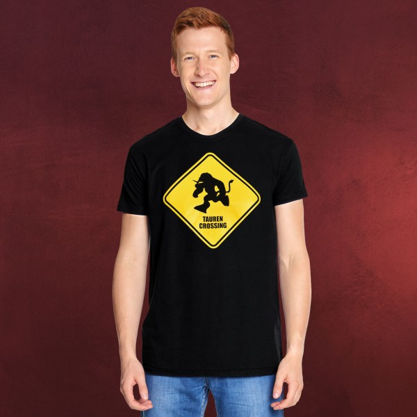 Tauren Crossing T-Shirt für World of Warcraft Fans schwarz
