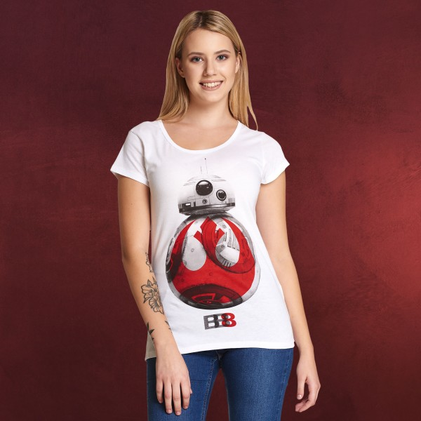 star wars rebel bb 8 t shirt damen wei elbenwald. Black Bedroom Furniture Sets. Home Design Ideas