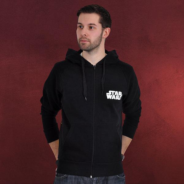 Star Wars - Darth Vader at Back Kapuzenjacke schwarz