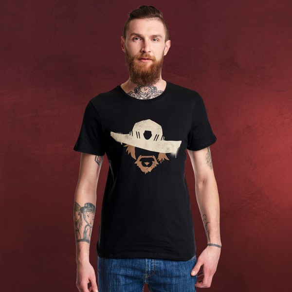 Overwatch - McCree Spray Logo T-Shirt schwarz