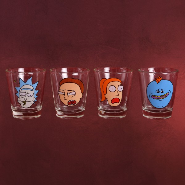 Rick and Morty - Faces Shots Gläserset