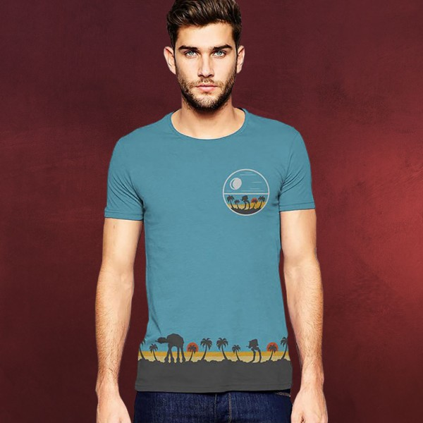 Star Wars - Rogue One Tropical Scene T-Shirt