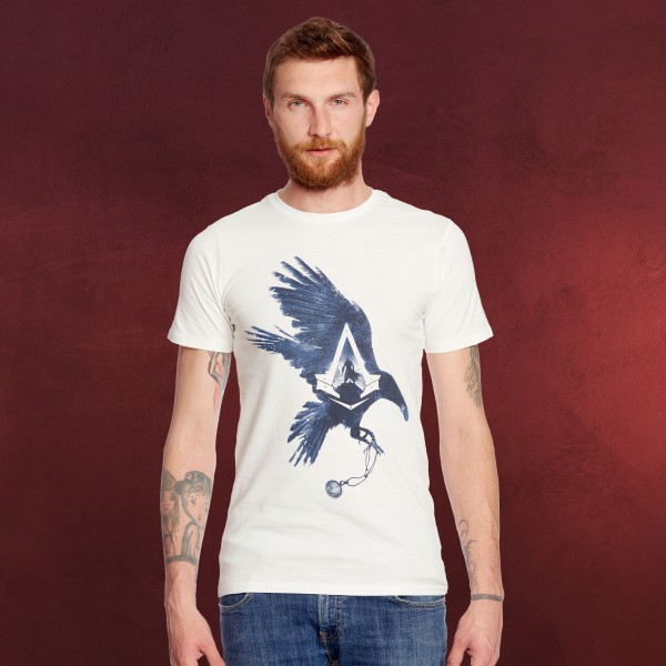 Assassins Creed - Jacob Frye Raven T-Shirt weiß