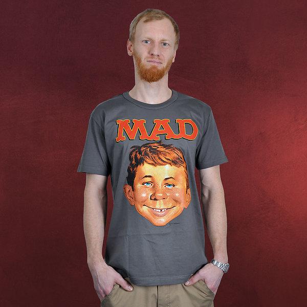MAD - Alfred E. Neumann T-Shirt grau
