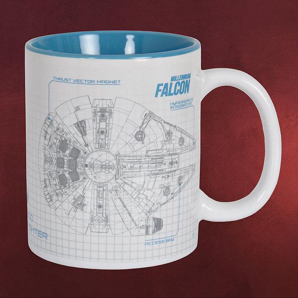 Star Wars - Falcon Tasse weiß