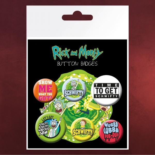 Rick and Morty - 6er Button Set