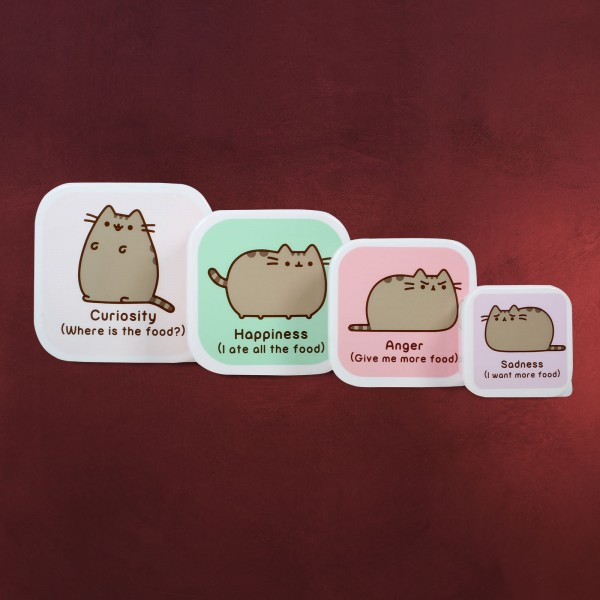 Pusheen - Lunchbox 4er Set