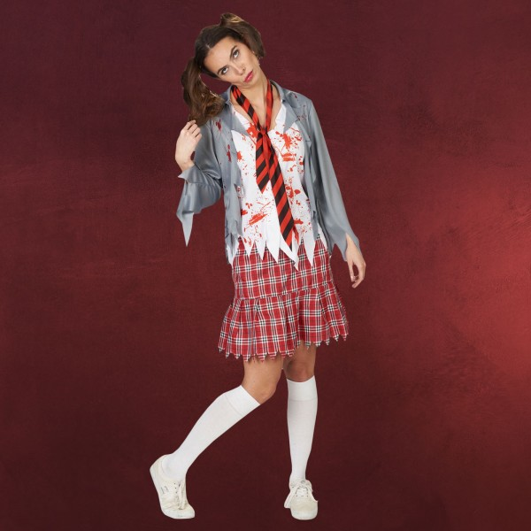 Zombie School Girl - Kostüm Damen