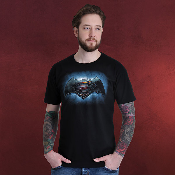 Batman v Superman - Logo T-Shirt schwarz