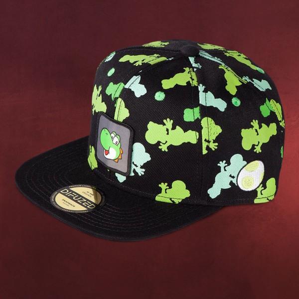 Super Mario - Yoshi Silhouettes Snapback Cap