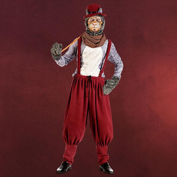 Straßen Kater - Kostüm Herren rot