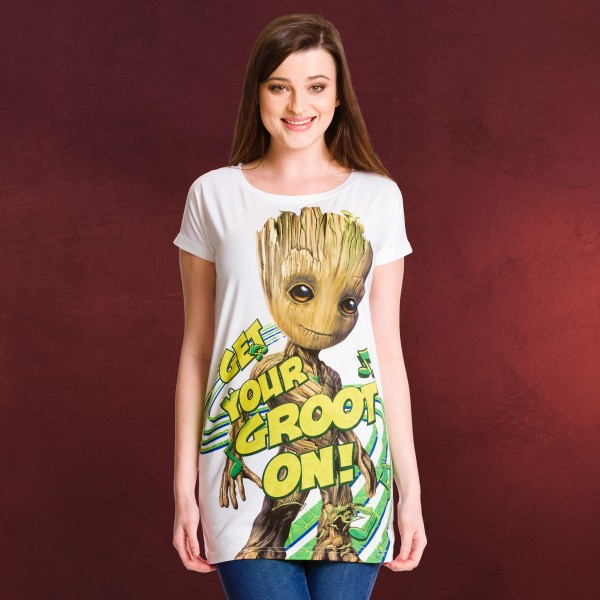 Guardians of the Galaxy - Groot On Girlie Shirt Loose Fit