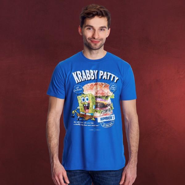 SpongeBob - Krabby Patty T-Shirt blau