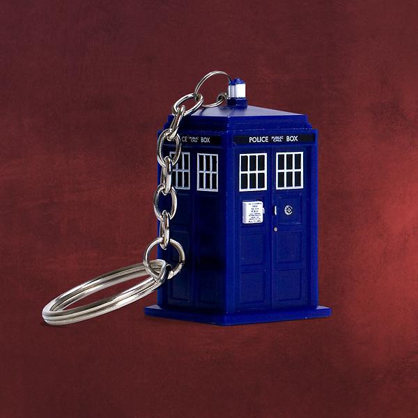 Doctor Who - Tardis Schlüsselanhänger mit Licht