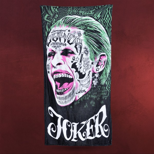 Suicide Squad - Joker Face Badetuch
