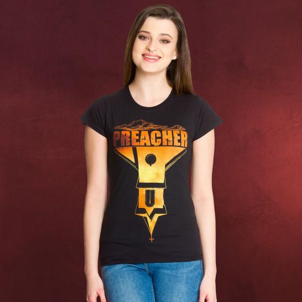 Preacher - Logo Girlie Shirt schwarz