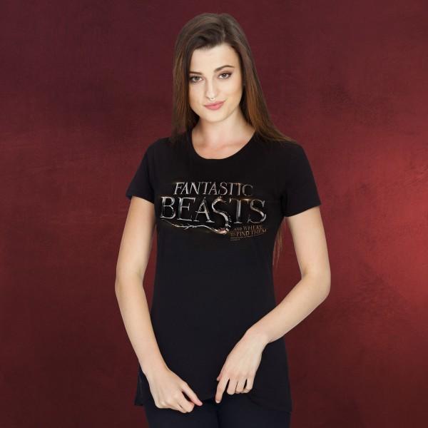 Phantastische Tierwesen - Logo Girlie Shirt schwarz