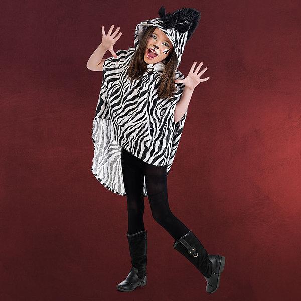 Zebra Poncho - Kinderkostüm