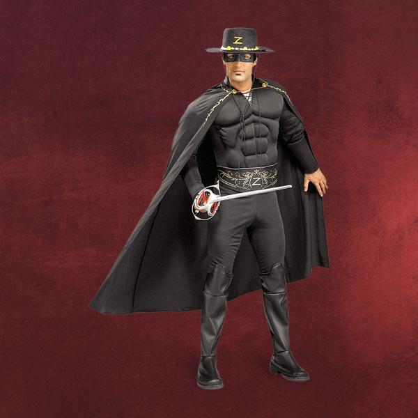 Zorro Kostüm mit Muskeln
