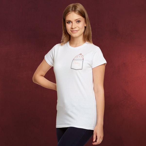 Molang - Pocket T-Shirt Damen weiß