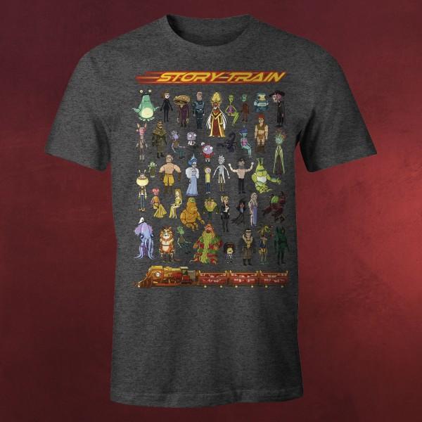 Rick and Morty - Story Train T-Shirt grau
