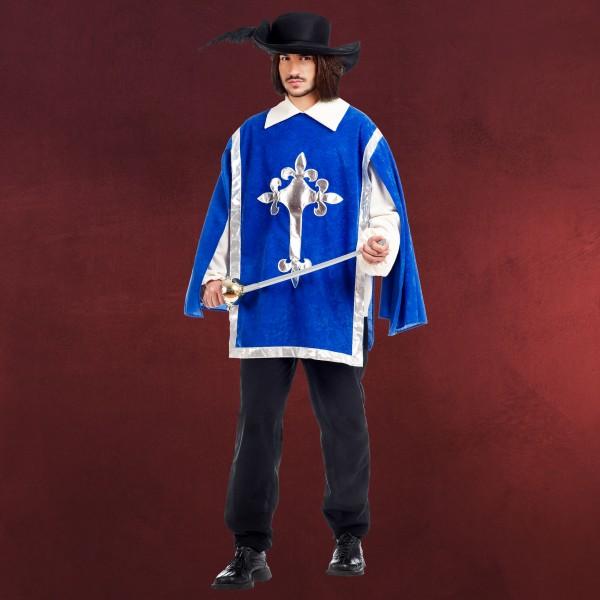 Königliches Musketier - Kostüm Herren blau