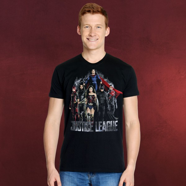 Justice League - Movie Collage T-Shirt schwarz