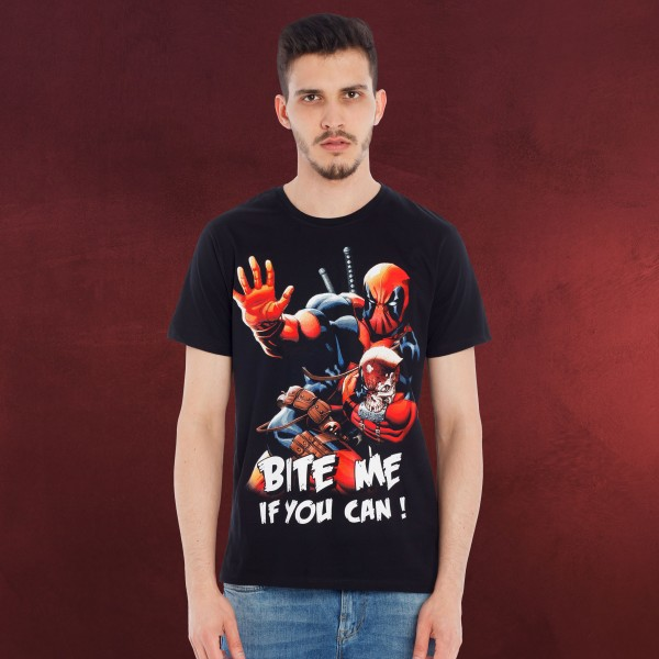 Deadpool - Bite Me T-Shirt schwarz