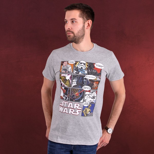 Star Wars - Comic T-Shirt grau