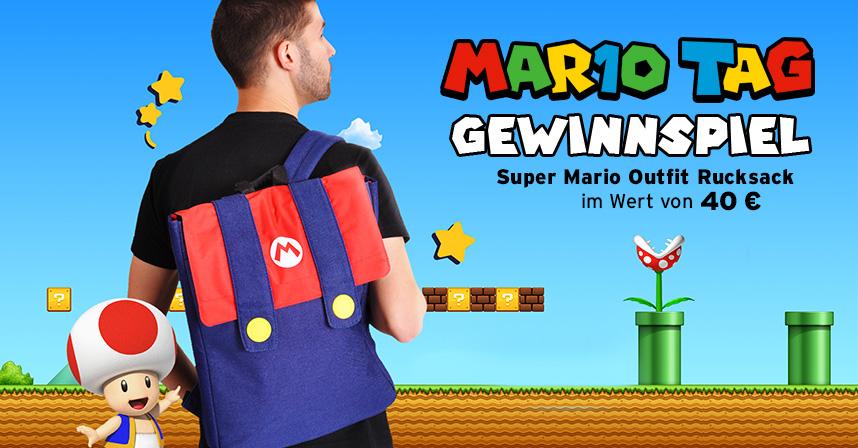 Super Mario Outfit Rucksack Gewinnspiel