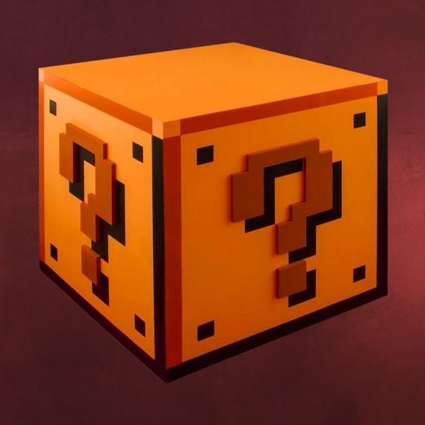 Super Mario - Fragezeichen Lampe mit Sound