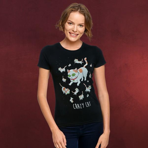 Rick and Morty - Crazy Cat T-Shirt Damen schwarz