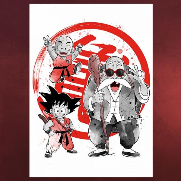 Kame School Metall Poster für Dragon Ball Fans
