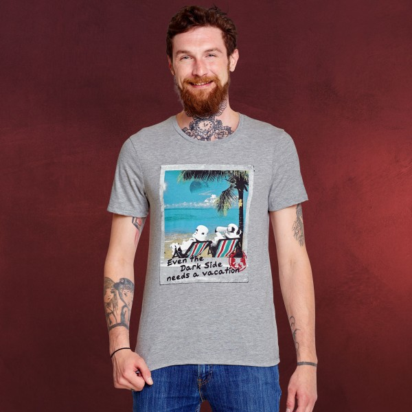 Star Wars - Dark Side Vacation T-Shirt grau