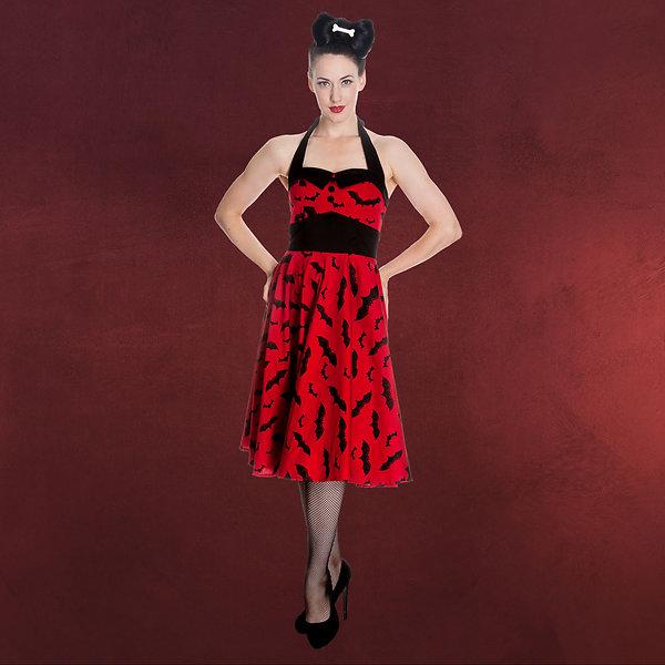 Rockabilly-KleidBat rot-schwarz