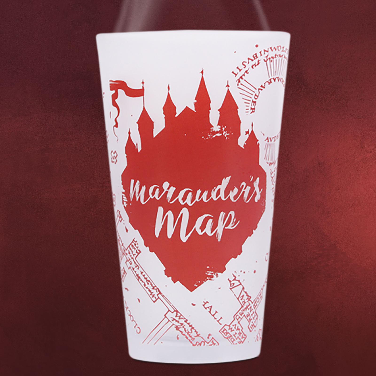 Harry Potter Marauders Map Kälteeffekt Glas Elbenwald